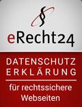 eRecht24 - Siegel für Datenschutz